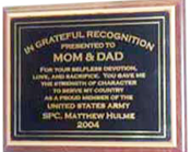 Mom and Dad Plaque