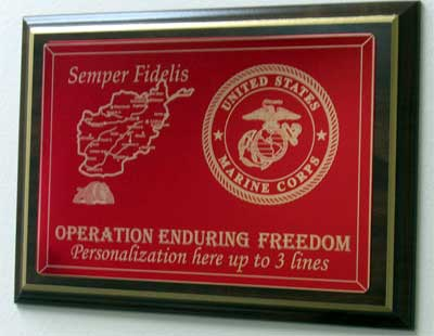 marine corps plaques