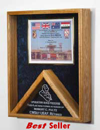 Combination flag and certificate case