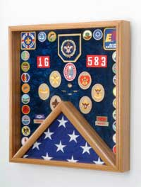 military service medals display case