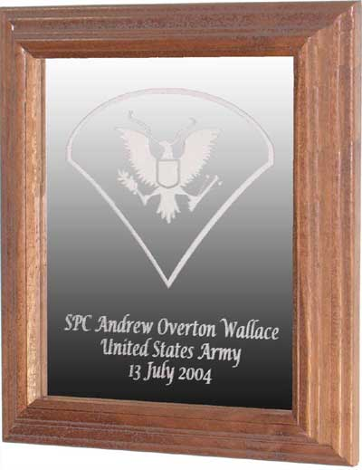 laser engraved soldier gift