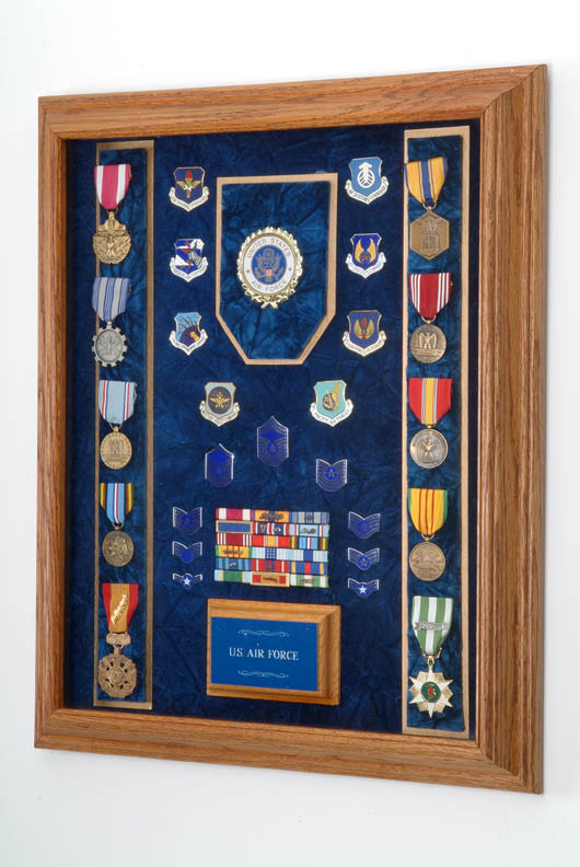 US Military Awards Display Case image