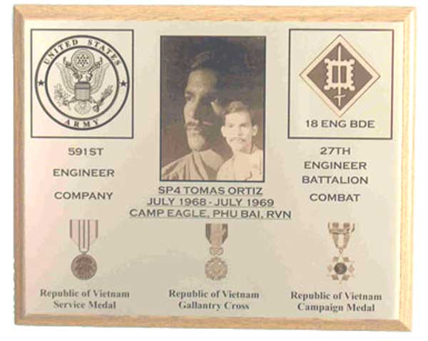 military gift plaque